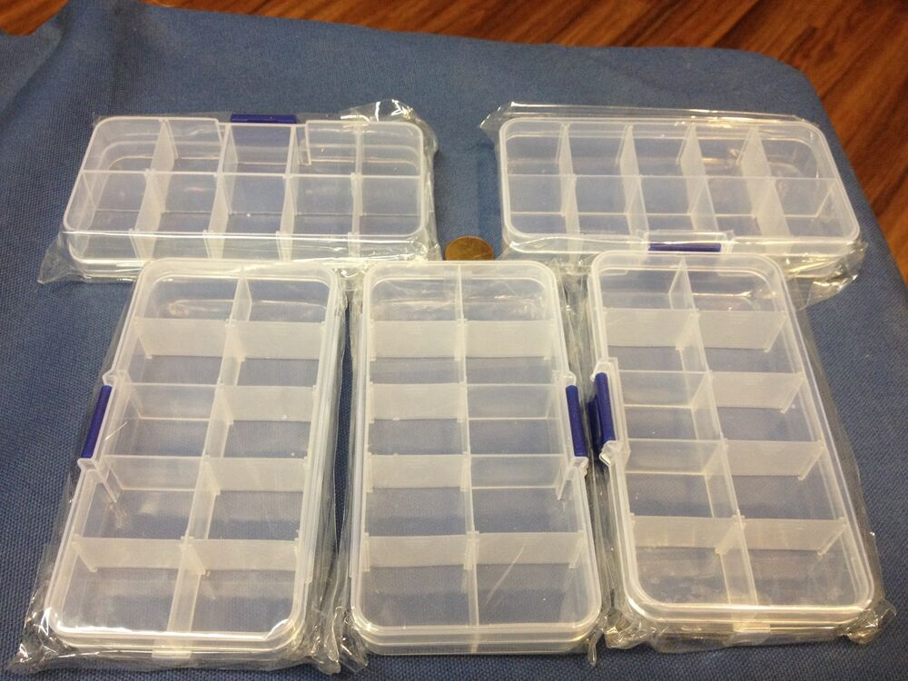 5x clear plastic case wholesale container nail art box. Black Bedroom Furniture Sets. Home Design Ideas