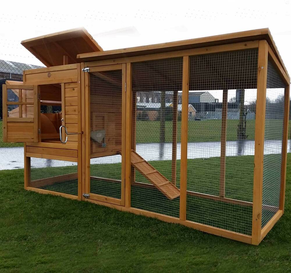 Large 8ft cocoon chicken hen house coop poultry ark run for Chicken coop for 8 10 chickens