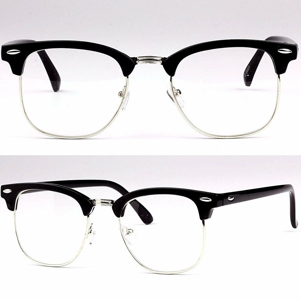 clubmaster fake glasses  Clear Frame Glasses