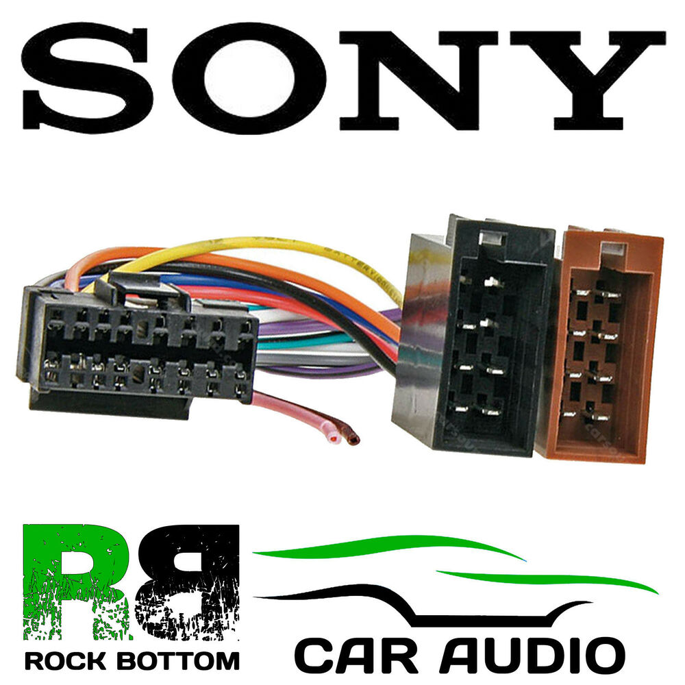 sony cdx series car radio stereo 16 pin wiring harness loom iso connector lead ebay. Black Bedroom Furniture Sets. Home Design Ideas
