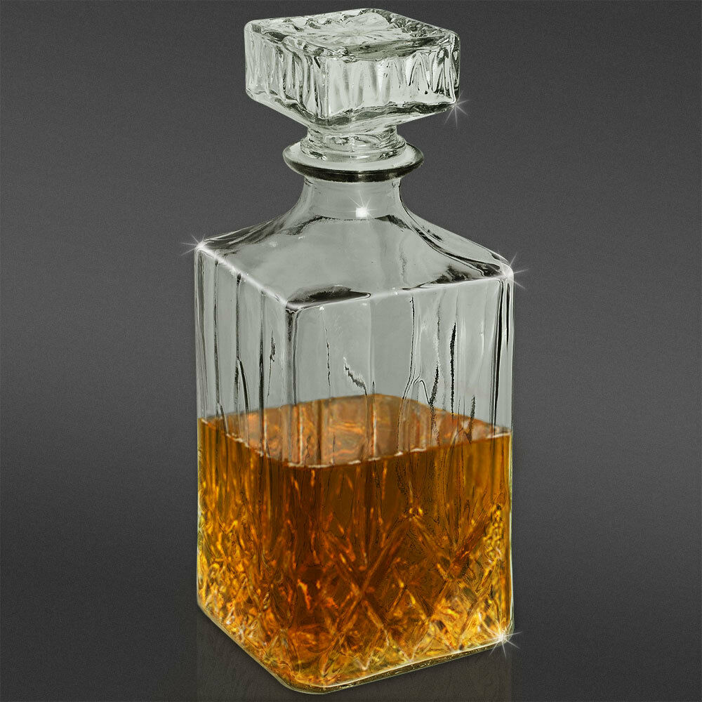 whisky karaffe dekanter verschluss whiskey cognacflasche glas lik r wein 900ml ebay. Black Bedroom Furniture Sets. Home Design Ideas