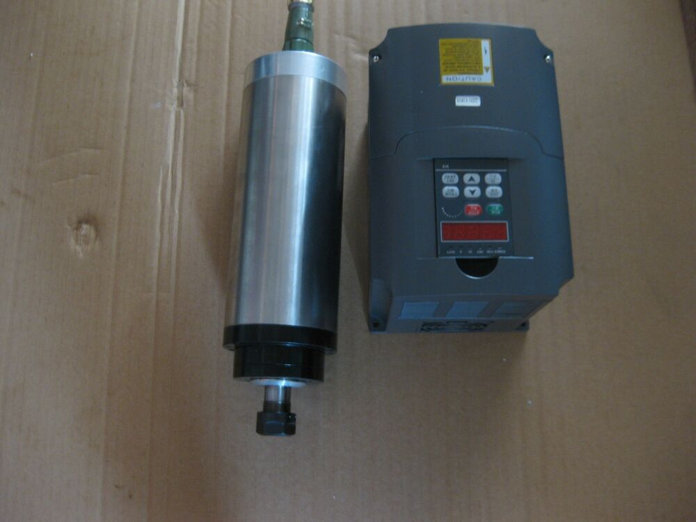 4kw water cooled spindle with a vfd inverter a motor for Liquid cooled ac motor