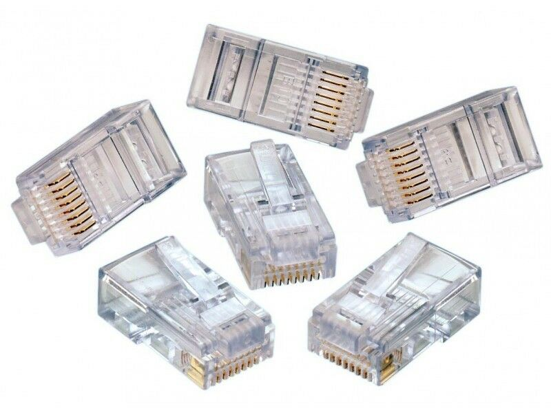 Multi Core Cable Ethernet Plug : Lot of cat rj ethernet connector network lan cable