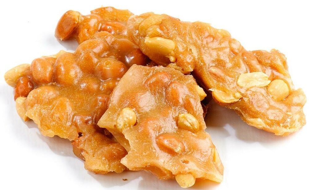 Peanut Brittle 5 Pounds Deliciously Homemade Peanut Brittle Loaded w ...