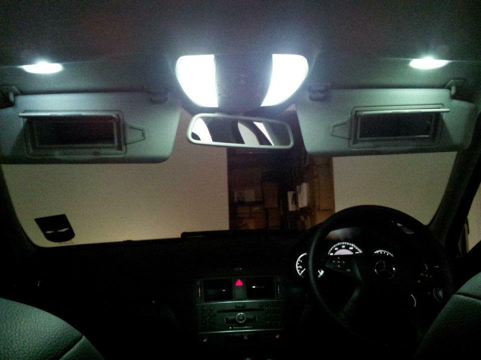 Mercedes e class coupe xenon white led interior lights bulbs kit w212 e class ebay for Led car interior lights ebay