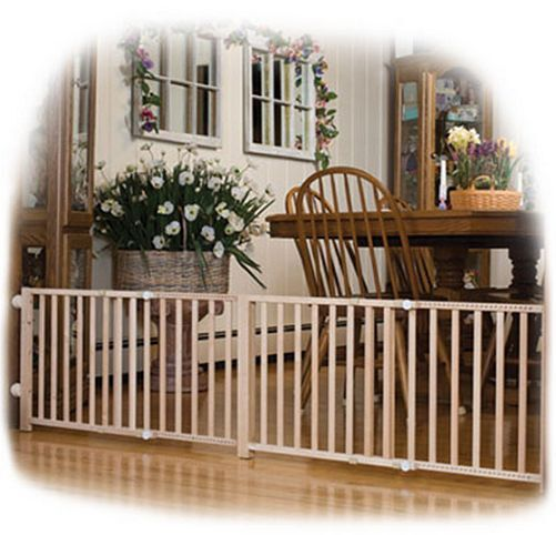 Dog Pet Gate Fence New Expandable Double Wide Walk Over