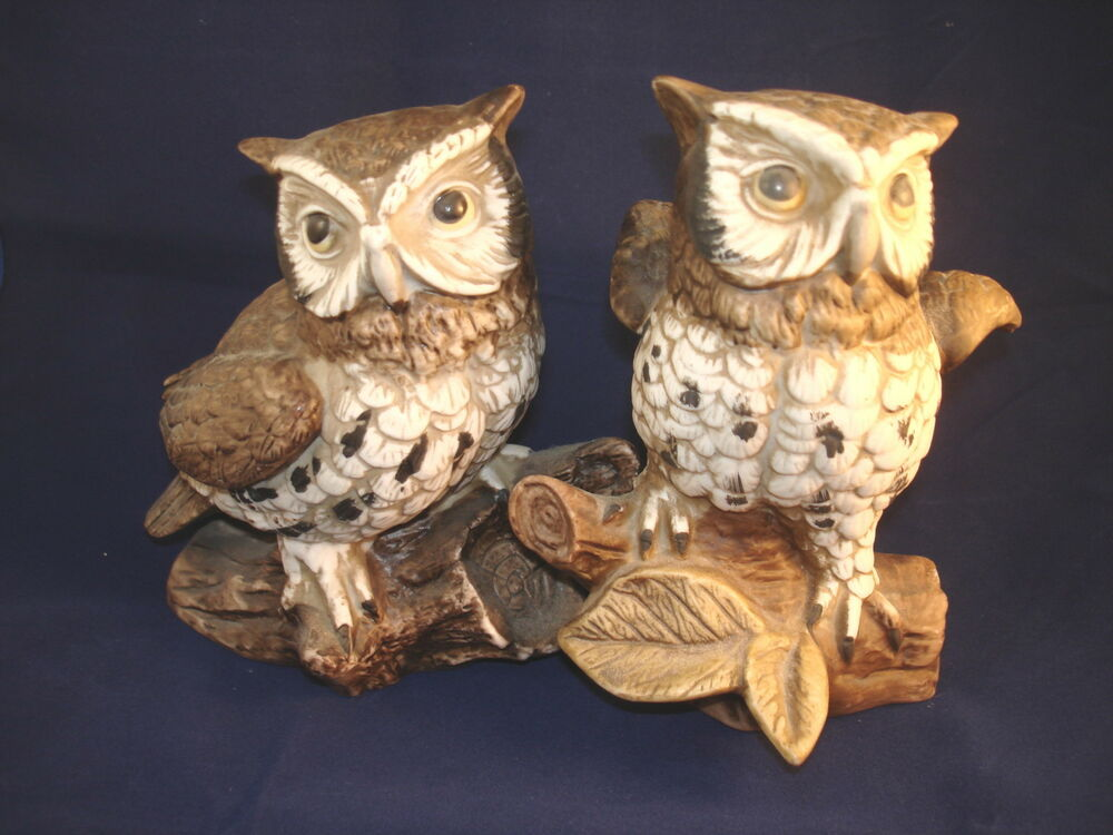 Homco owl figures figurines 1114 home interior porcelain 5 Home interiors figurines homco