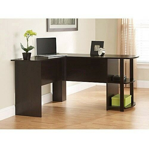 Computer Desk Pc Laptop Wood Table Home Office Study: Computer Desk L Shaped Home Office Furniture With Side