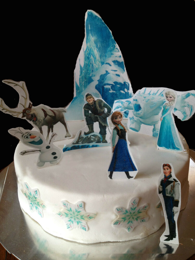 Frozen Edible Cake Decoration Set- Wafer Toppers eBay