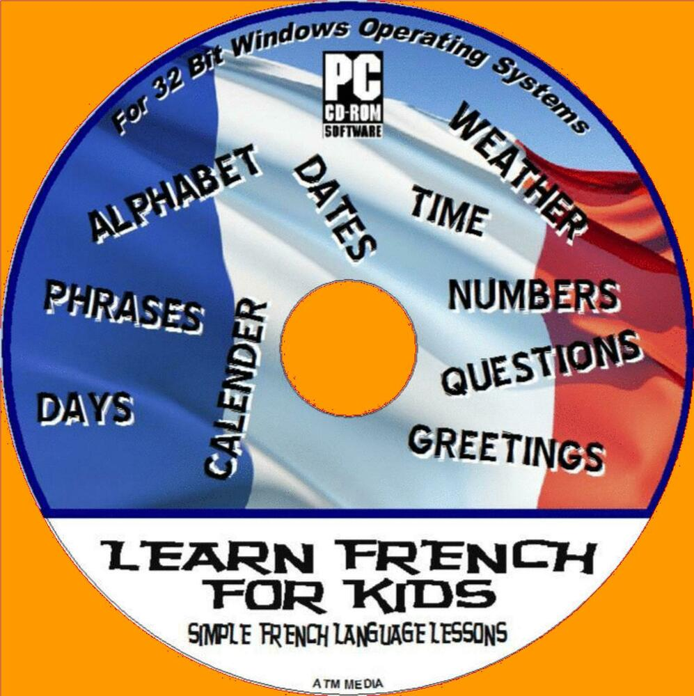 French For Kids Easy Childrens Language Lessons Interactive Pc Cd