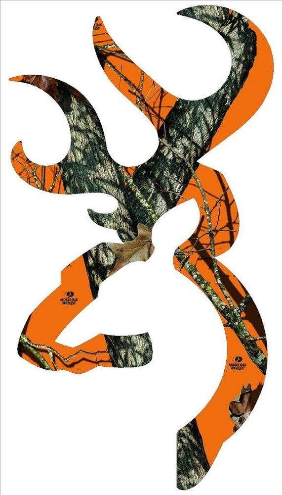 Browning Style Buck Realtree Orange Camo Camouflage ...