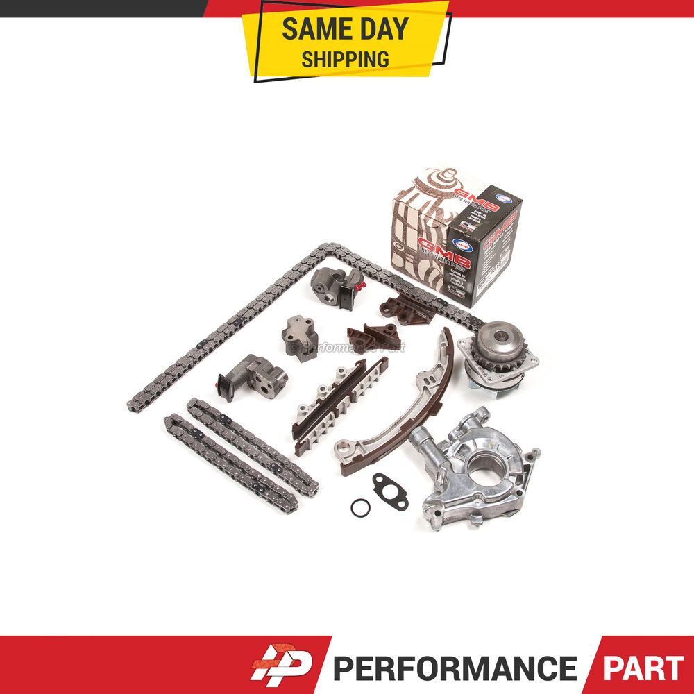 Timing chain kit water oil pump fits infiniti qx4 nissan for Nissan pathfinder motor oil