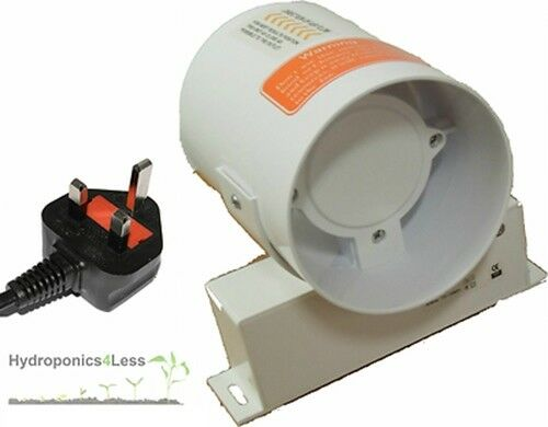 6 Duct Fan Extractor : Hydroponic grow room fan tent inline air extractor for