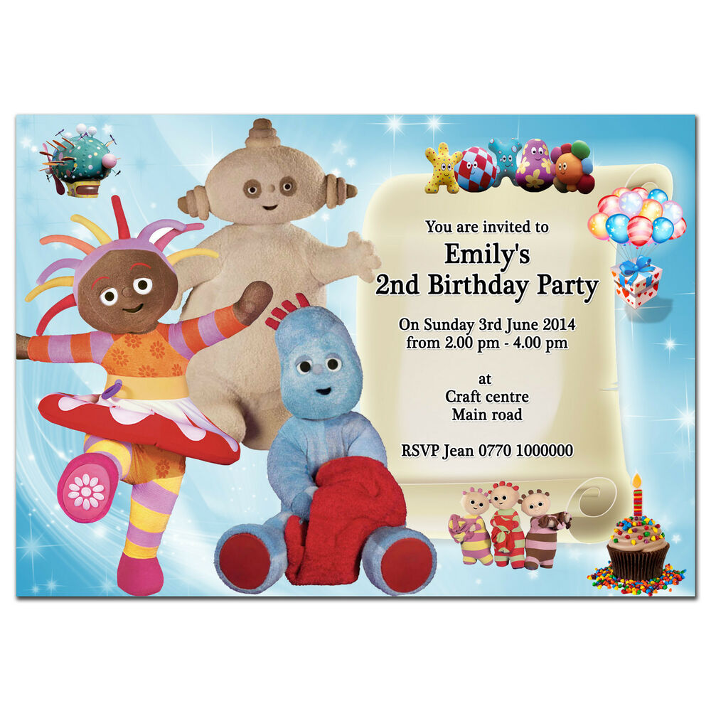 I27 In The Night Garden Personalised Invitations Custom