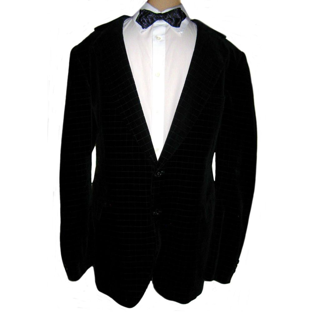 Tiger Of Sweden Mens Black Velvet Jacquard Blazer Smoking