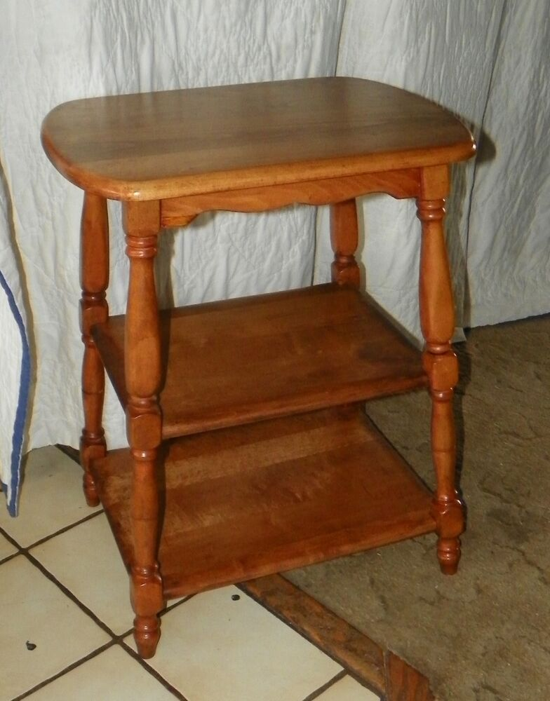 Light cherry tier end table side t ebay