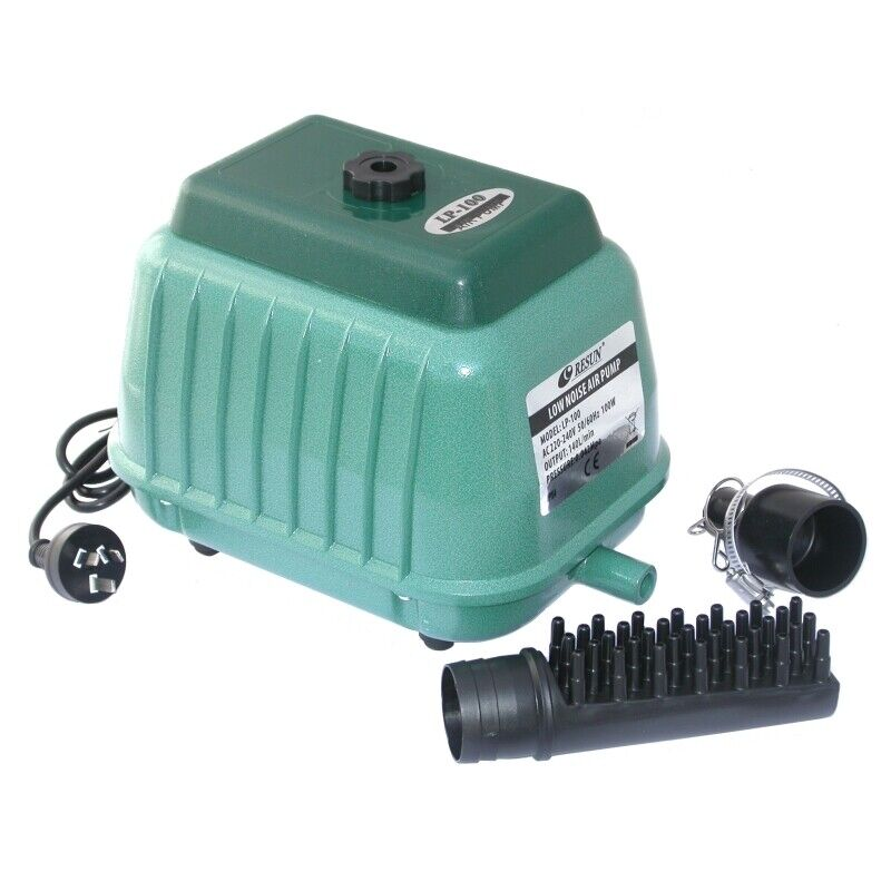 Resun lp 100 pond air pump 140l min pond septic tank for Air pump for fish tank