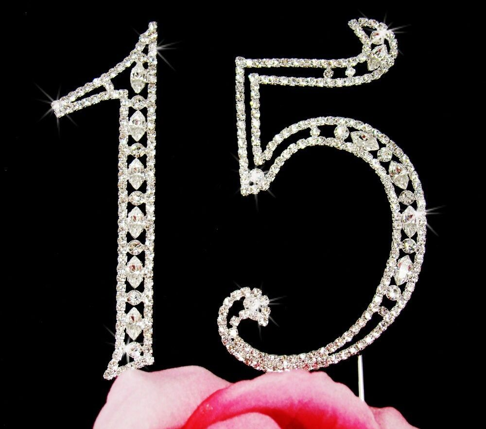 Large Rhinestone Number Cake Topper