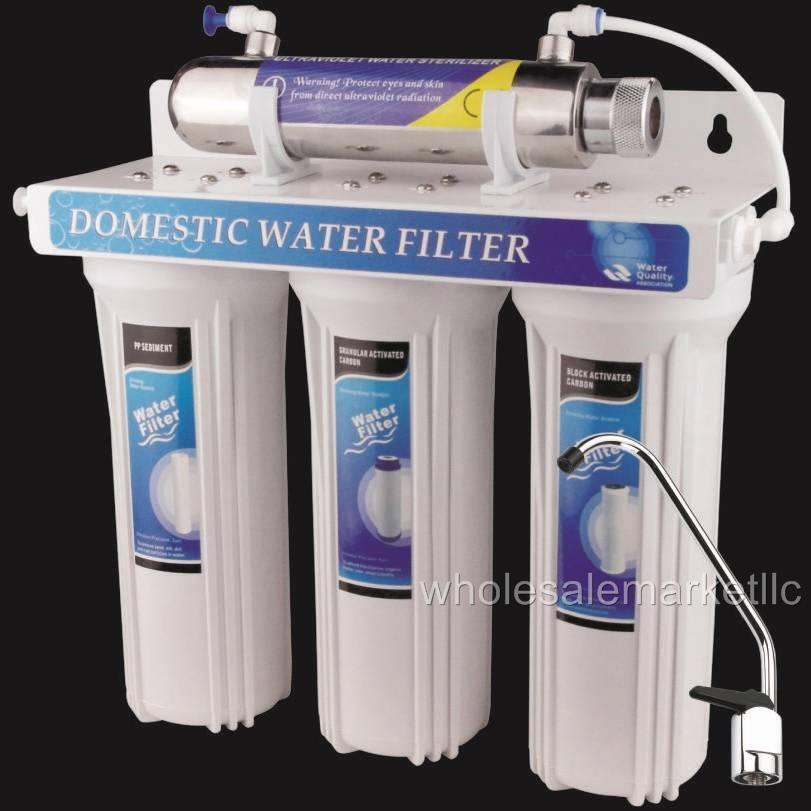water filter system ultraviolet light under sink purifier ebay. Black Bedroom Furniture Sets. Home Design Ideas