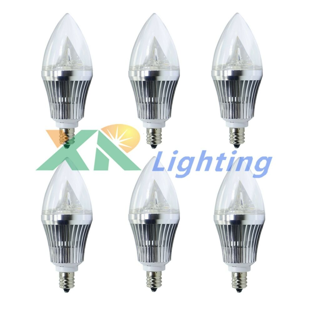 E12 Led Dimmable: 6x E12 Base 6W 9W Dimmable Sharp High Power LED Chandelier