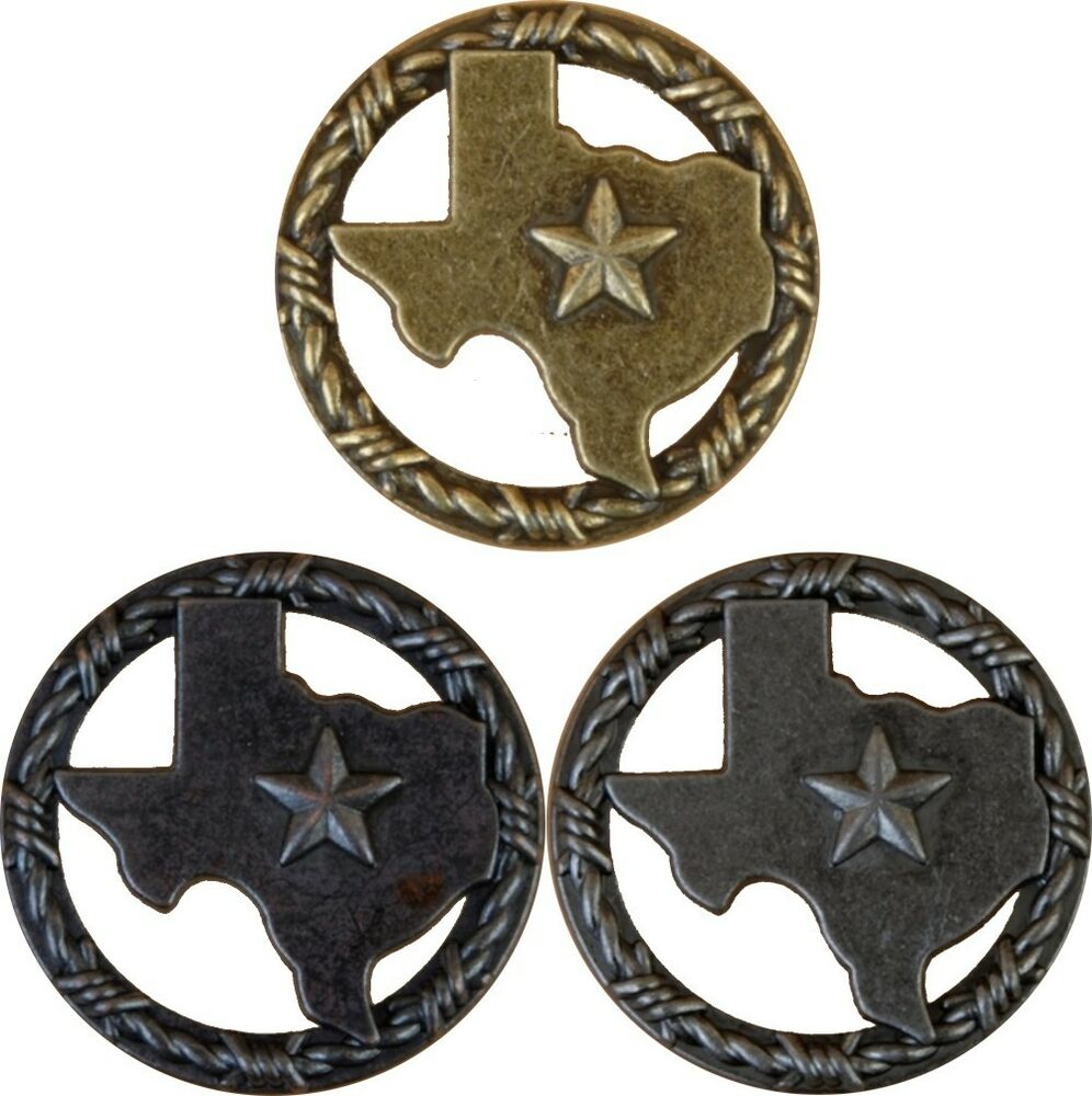 Texas with barbwire ring lone star drawer cabinet pull for Star cabinet pulls