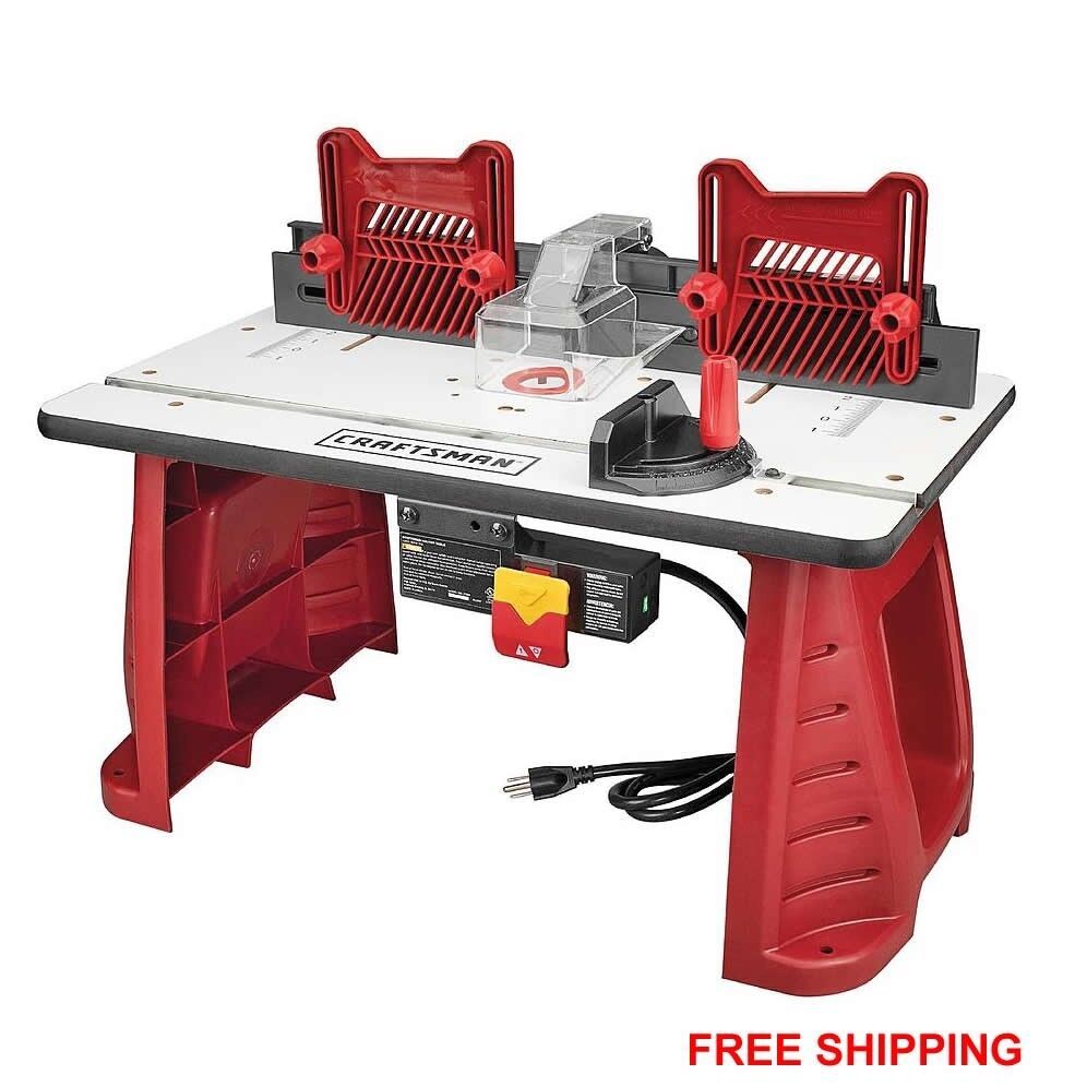 Craftsman Router Table Woodworking Garage Work Shop ...