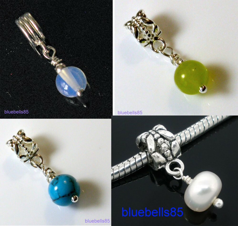 Birthstone Charm Bracelet: BIRTHSTONE CHARM BEAD For 3mm European BRACELET