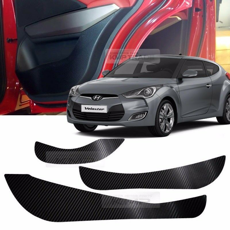 2017 Hyundai Veloster Interior: Carbon Door Decal Sticker Cover Kick Protector For HYUNDAI