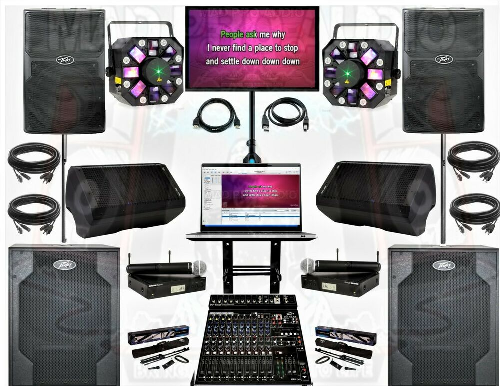 Pro Audio Equipment Peavey Pvx Karaoke Club System Laptop