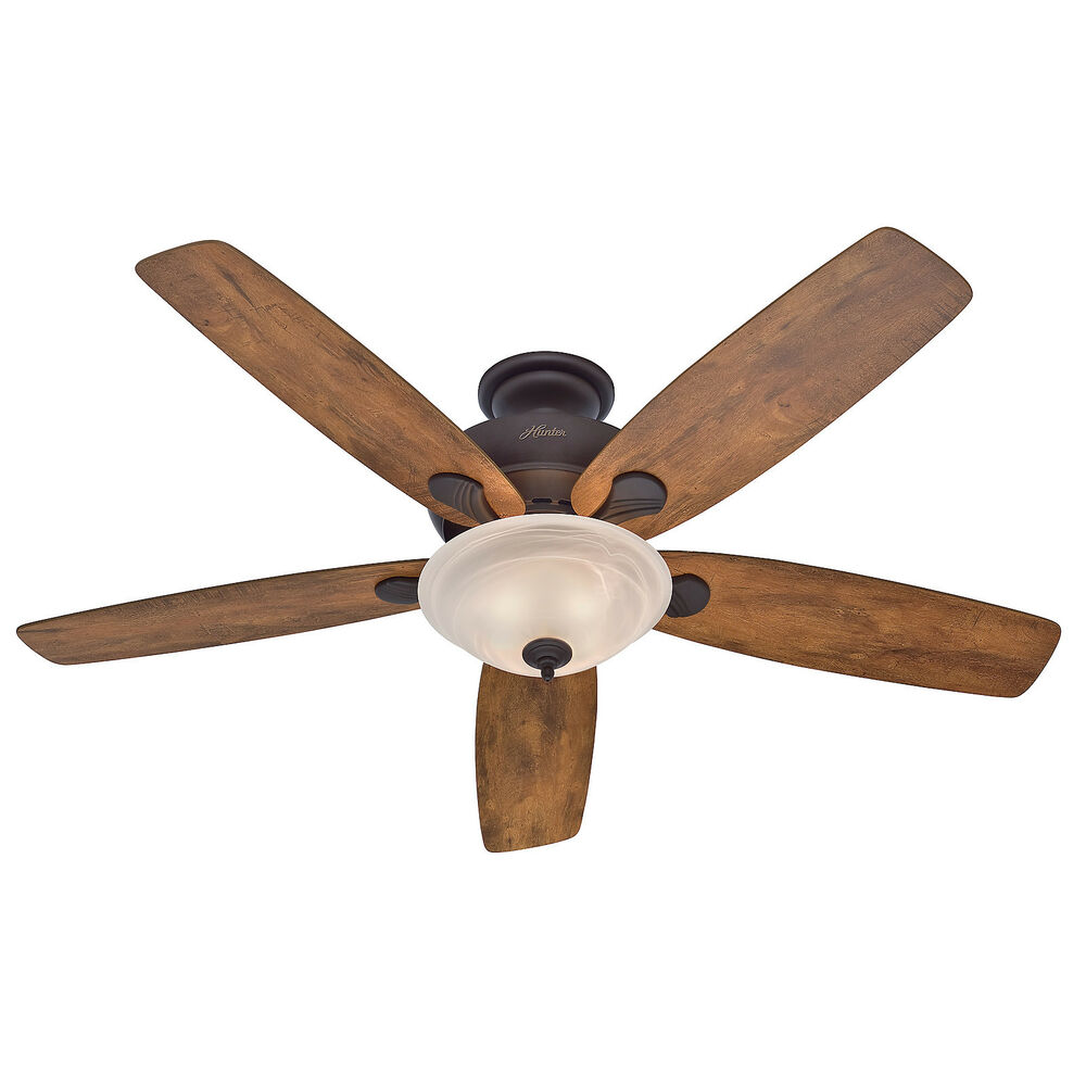 "Hunter Fan Company Builder Great Room New Bronze Ceiling: Hunter 60"" Bronze Great Room Ceiling Fan With Light"