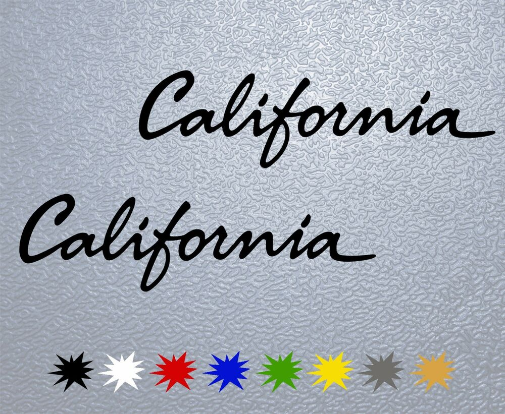sticker pegatina decal vinyl autocollant aufkleber california ebay. Black Bedroom Furniture Sets. Home Design Ideas