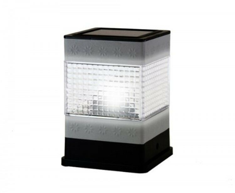 Fence Post Solar Light Ultra Bright Stainless Steel New