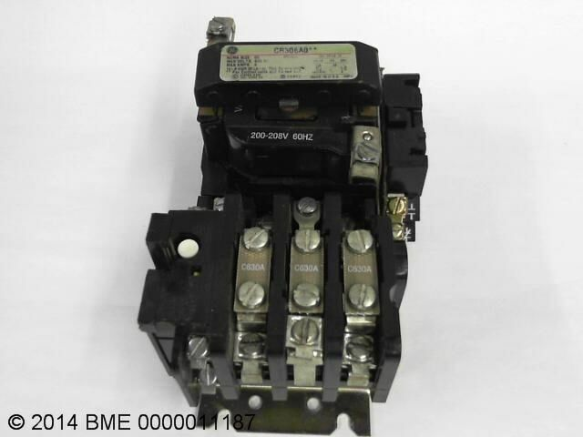 Ge Motor Starter Contactor Cr306a0 600 Vac Nema Size 0 9 Amp Used Ebay