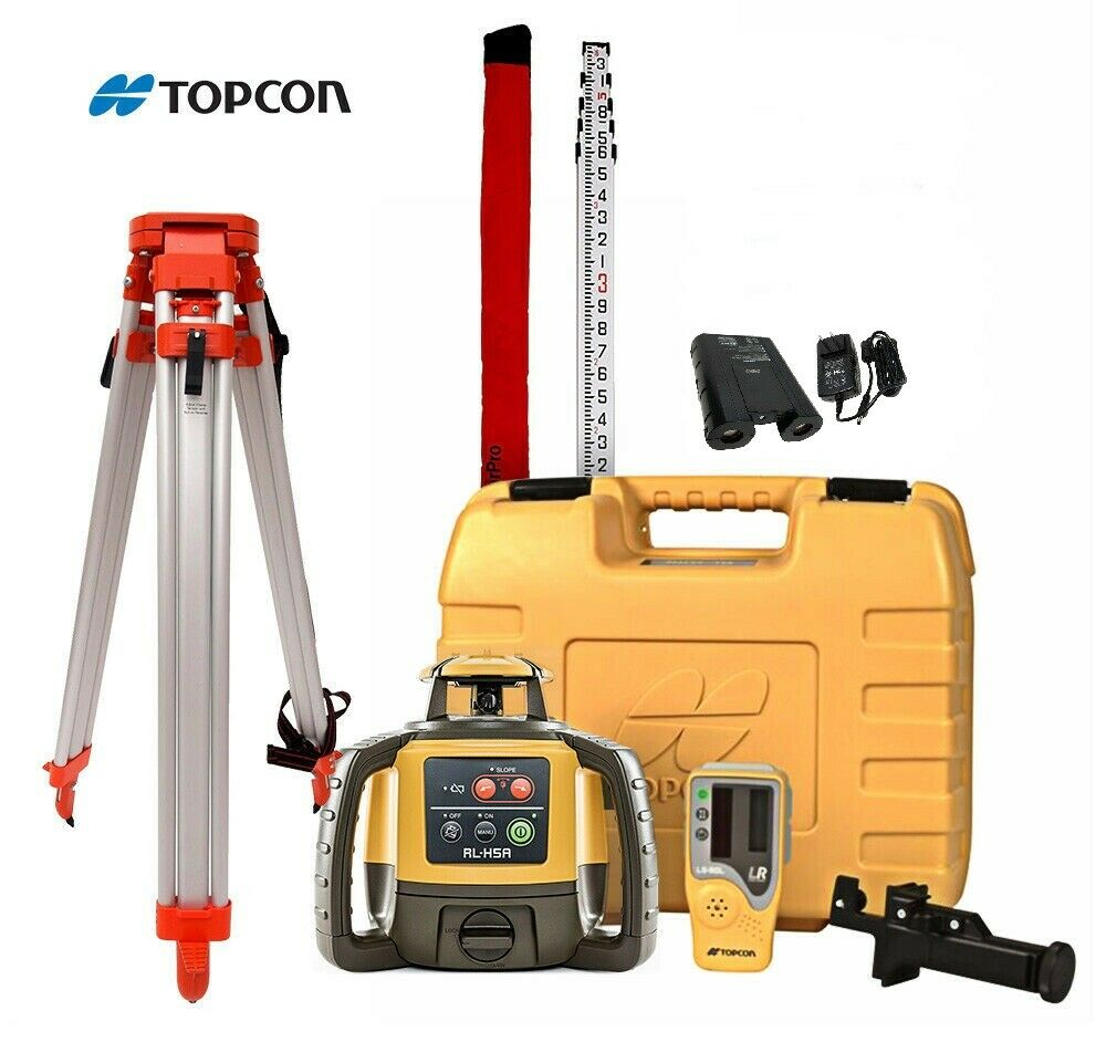 Topcon Rl H4c Construction Laser Level Rechargeable Kit