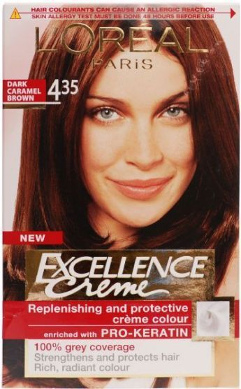 loreal excellence crme hair colour no 435 dark caramel brown - Coloration Excellence