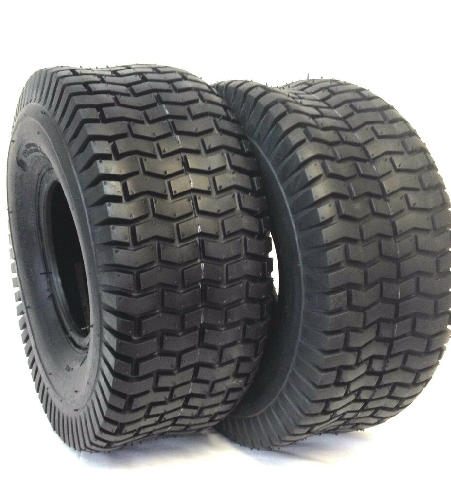 Two 15x6x6 15x6 00 6 Turf Tires Garden Tractor Lawn Mower