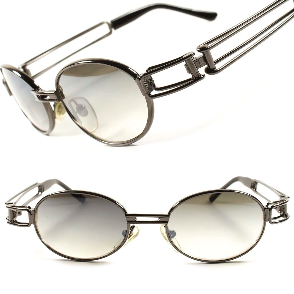 Men s Round Gold Frame Sunglasses : Classic Old School Vintage Retro Mens Womens Oval Round ...