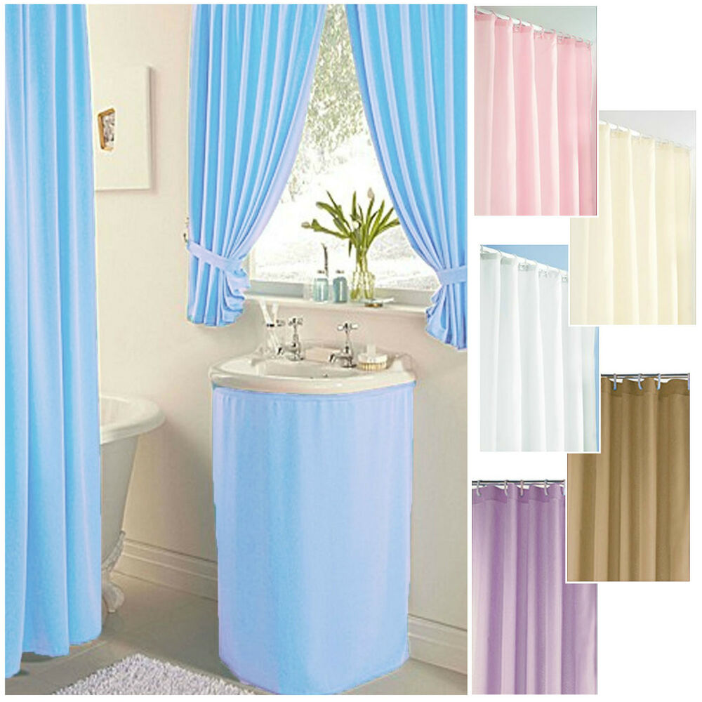 Plain Dyed ***CLEARANCE*** Bathroom Curtains, Shower
