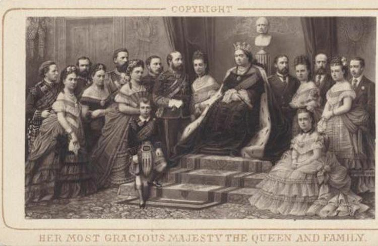 CDV ENGRAVING OF QUEEN VICTORIA AND HER ROYAL COURT W ...