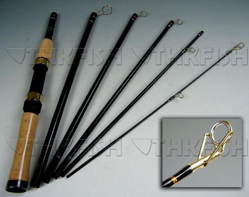 6 section portable travel fishing rod spinning rods for Ebay fishing rods