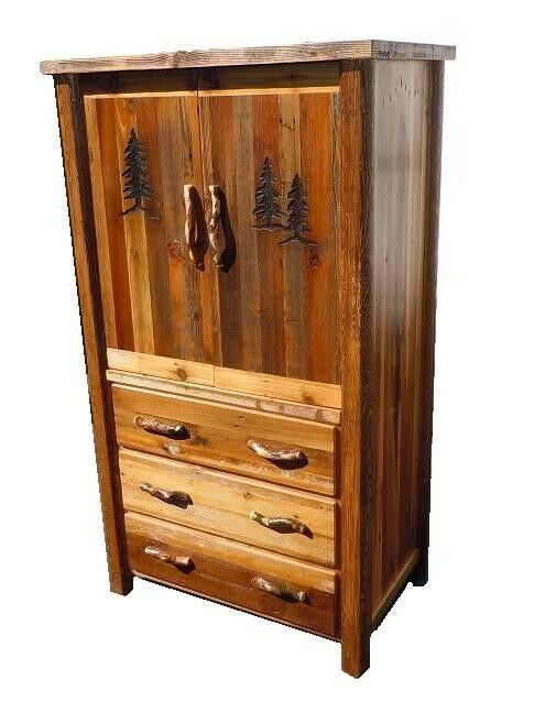 Custom Country Armoire Western Rustic Cabin Log Wood Bedroom Furniture Decor Ebay