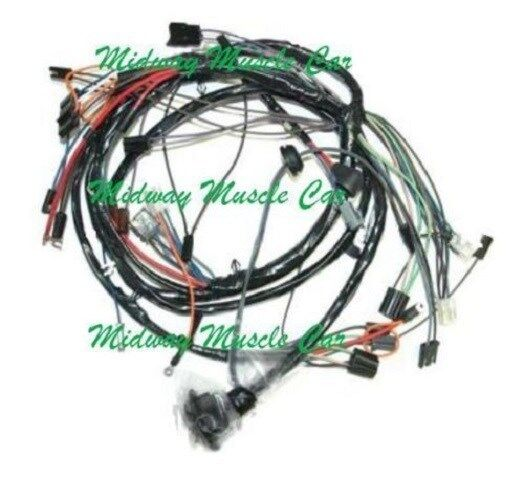 Front end headlight lamp wiring harness chevy chevelle