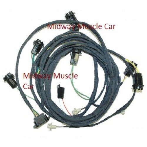 rear light wiring harness 69 pontiac gto 1969 coupe judge ram air ebay