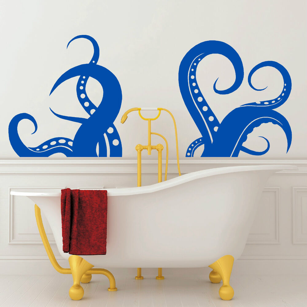 OCTOPUS LEGS bathroom bath sticker vinyl wall art decal