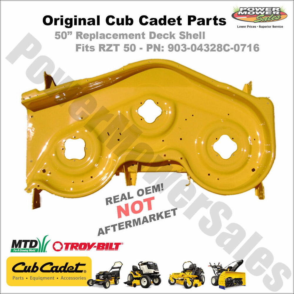 Cub Cadet Mower Deck Replacement : Yellow cub cadet rzt quot deck shell replacement