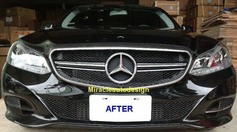 Amg e63 look black grill for 2014 mercedes w212 e class for 2014 mercedes benz e350 coupe accessories