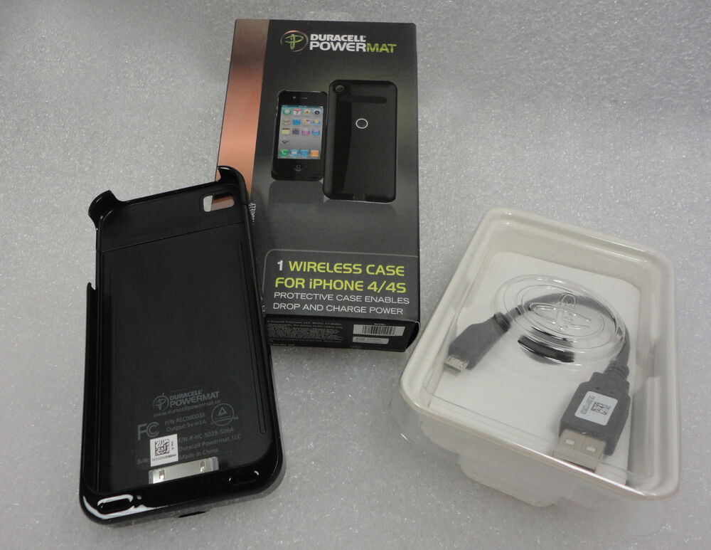 Duracell Powermat Wireless Charging Black Case For Iphone
