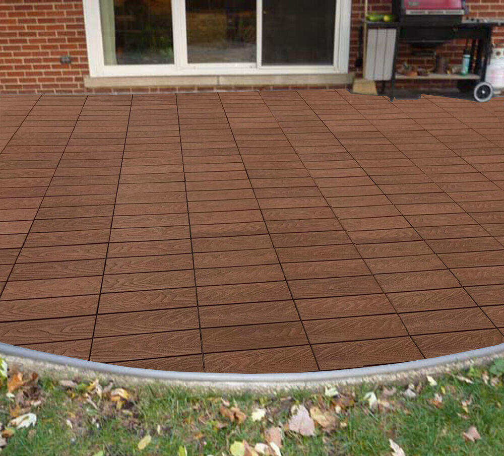 Build4eco Diy Interlocking Composite Deck Tiles 4 Slate