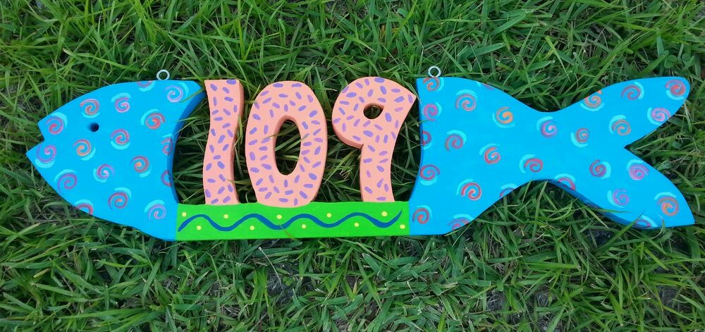 Hand Painted House Name Plaques