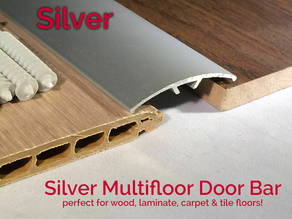 ... Door Bar Threshold Strip Cover Plate Laminate Floor 0.9m SILVER | eBay